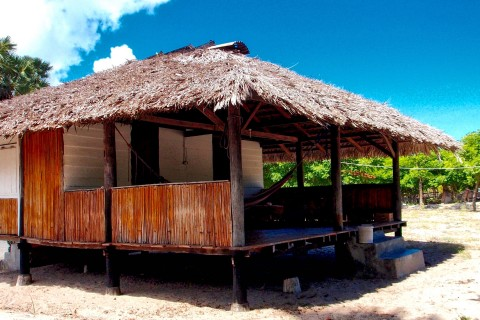 Beach bungalow at Kalala Beach. Photo taken in or around Sumba, Indonesia by Sally Arnold.