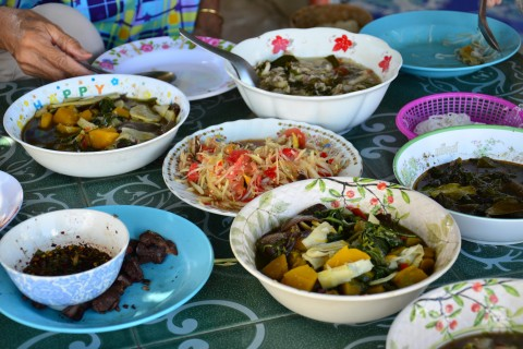 Lets eat! Photo taken in or around That Phanom, Thailand by David Luekens.