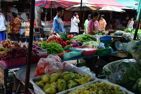 Market scenes. Photo taken in or around Khon Kaen, Thailand by David Luekens.