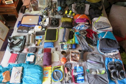 What Sally packed for the Java trip.