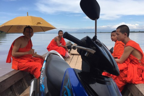 Just another day on the boat to Don Daeng. Photo taken in or around Don Daeng, Champasak, Laos by Cindy Fan.