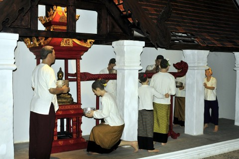 Some activities have barely changed over the centuries. Photo taken in or around Lanna Folklife Museum, Chiang Mai, Thailand by Mark Ord.