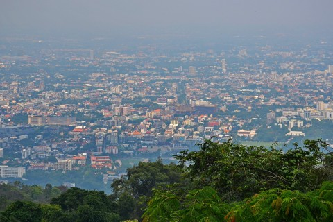 People come for the views... Photo taken in or around Wat Phra That Doi Suthep, Chiang Mai, Thailand by Mark Ord.