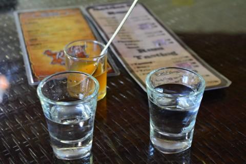 Three shots of yum.