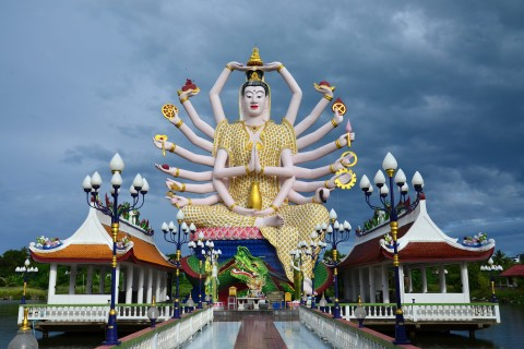 And don't miss Wat Plai Laem. Photo taken in or around Bang Rak Beach, Ko Samui, Thailand by David Luekens.
