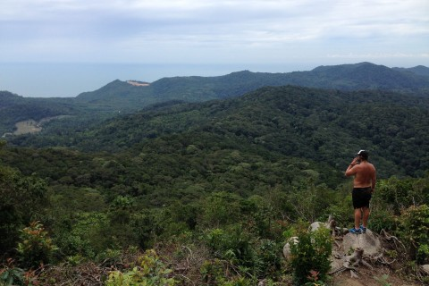 Looking towards Thong Nai Pan and Than Sadet. Photo taken in or around Khao Ra, Ko Pha Ngan, Thailand by Stuart McDonald.