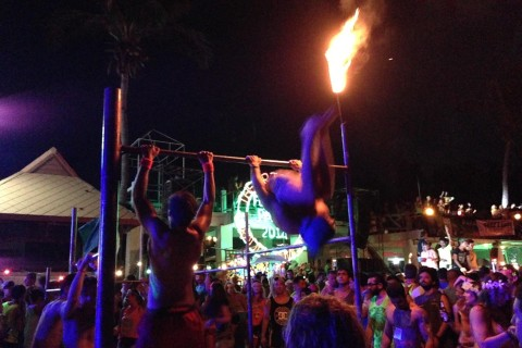 Dancing on the inside. Photo taken in or around Thailand's Full Moon Party, Ko Pha Ngan, Thailand by Stuart McDonald.