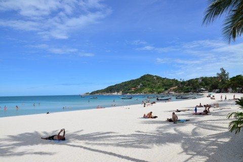 Haad Rin Beach is still pretty amazing. Photo taken in or around What's a good beach on Ko Pha Ngan?, Ko Pha Ngan, Thailand by David Luekens.