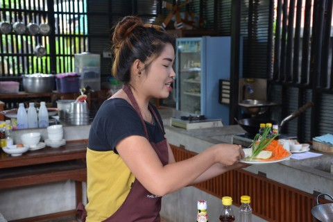 Hands-on tuition. Photo taken in or around Thai cooking lessons, Pai, Thailand by Mark Ord.