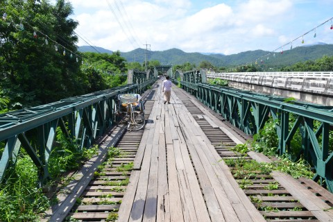 The Memorial Bridge. Photo taken in or around One-day Pai by scooter itinerary, Pai, Thailand by Mark Ord.