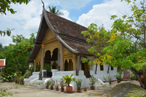 Wat Choumkong, another temple on the Luang Prabang trail. Photo taken in or around The temples of Luang Prabang, Luang Prabang, Laos by Cindy Fan.