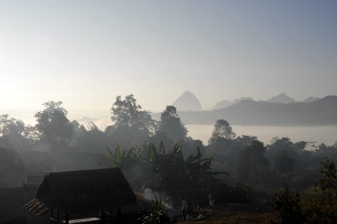 Marvellous mists. Photo taken in or around Trekking and village homestays, Luang Prabang, Laos by Cindy Fan.