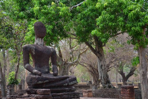 One of the most photographed sites at Wat Phra Kaeo.