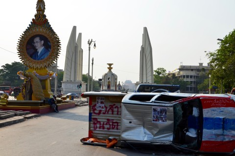 The site of 2014 protests. Photo taken in or around Democracy Monument, Bangkok, Thailand by David Luekens.