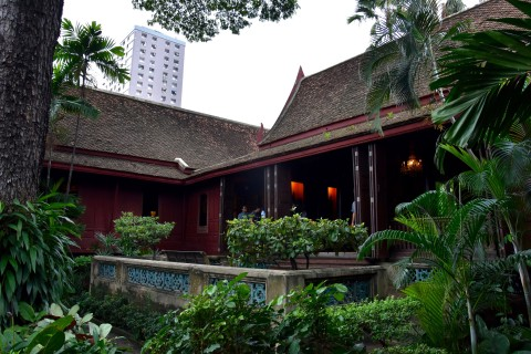 The house and gardens are gorgeous. Photo taken in or around Jim Thompson's House, Bangkok, Thailand by David Luekens.