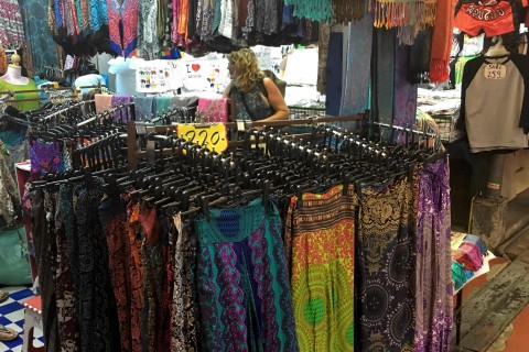Cheap clothes at Chatuchak: Not always the most stylish. Photo taken in or around Cheap clothes shopping, Bangkok, Thailand by Samantha Brown.
