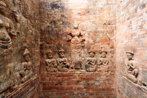It's what's on the inside that counts. Photo taken in or around Prasat Kravan, Angkor, Cambodia by Caroline Major.