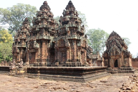 A rare moment of calm. Photo taken in or around Banteay Srei, Angkor, Cambodia by Caroline Major.