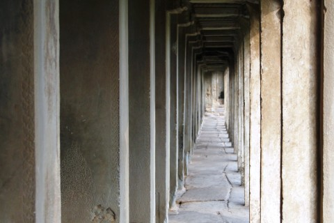 Get lost in the galleries. Photo taken in or around Angkor Wat, Angkor, Cambodia by Caroline Major.