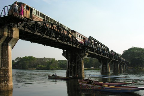 Choo choo! Photo taken in or around Death Railway Bridge, Kanchanaburi, Thailand by David Luekens.