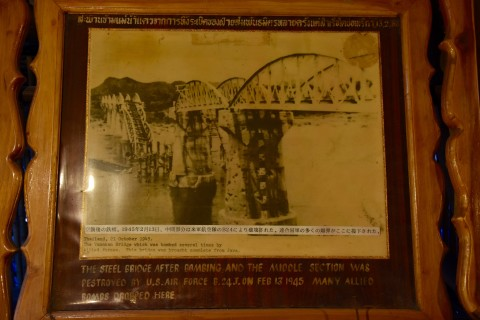 Old photos form a mainstay of the exhibits. Photo taken in or around JEATH War Museum, Kanchanaburi, Thailand by David Luekens.
