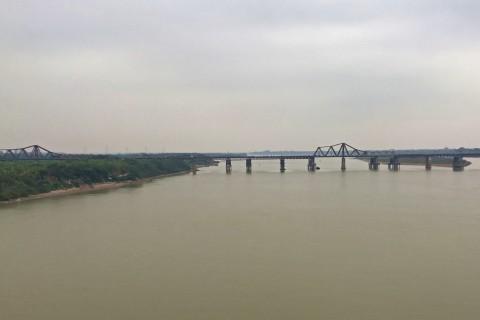 Long Bien as seen from Chuong Dong. Photo taken in or around Long Bien Bridge, Hanoi, Vietnam by Samantha Brown.