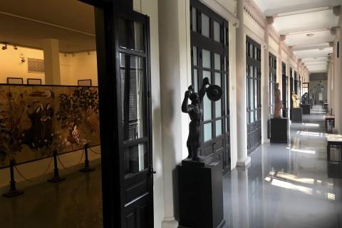 Beautiful artworks, beautiful building. Photo taken in or around Vietnam Fine Arts Museum, Hanoi, Vietnam by Samantha Brown.