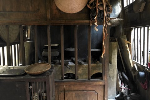 A typical early 20th century kitchen. Photo taken in or around Heritage house at 87 Ma May St, Hanoi, Vietnam by Samantha Brown.