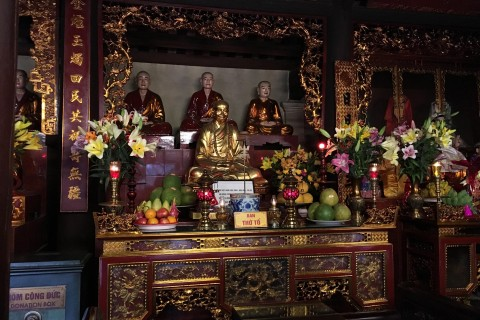One of the altars. Photo taken in or around Tran Quoc Pagoda, Hanoi, Vietnam by Samantha Brown.