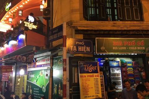 Ta Hien's claim to fame these days is <i>bia hoi</i> corner. Photo taken in or around Hanoi's 36 streets, Hanoi, Vietnam by Samantha Brown.