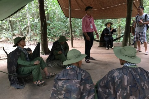 Life-size dioramas set the scene. Photo taken in or around Cu Chi Tunnels, Ho Chi Minh City, Vietnam by Cindy Fan.