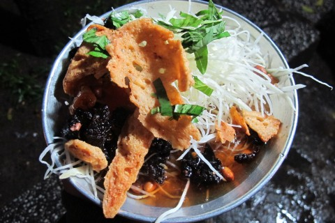 Forget the smoothie bowl—go a papaya salad bowl. Photo taken in or around Back of the Bike Tours, Ho Chi Minh City, Vietnam by Cindy Fan.