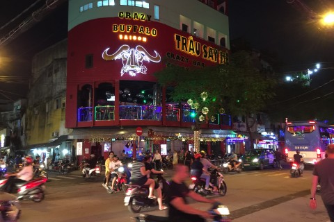 At the Crazy Buffalo. Photo taken in or around A weekend in Saigon, Ho Chi Minh City, Vietnam by Cindy Fan.