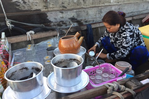 Forget Starbucks. Photo taken in or around Cai Rang floating market and boat tour, Can Tho, Vietnam by Cindy Fan.