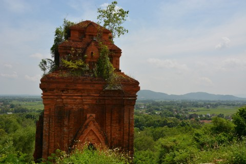 Nature slowly taking it back. Photo taken in or around Thap Banh It, Qui Nhon, Vietnam by Cindy Fan.