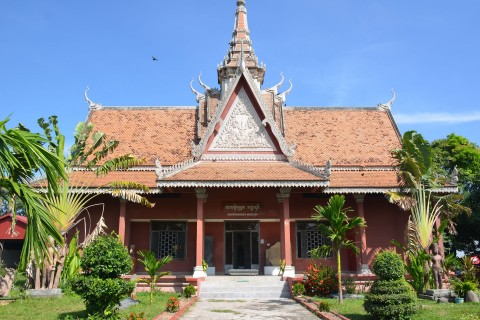 The recently renovated little museum Photo taken in or around Angkor Borei, Takeo, Cambodia by Mark Ord.