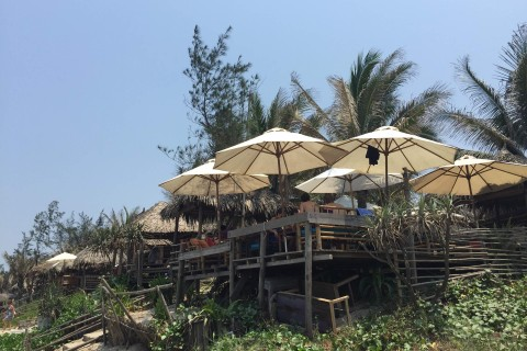 Places to eat, too. Photo taken in or around An Bang Beach, Hoi An, Vietnam by Cindy Fan.