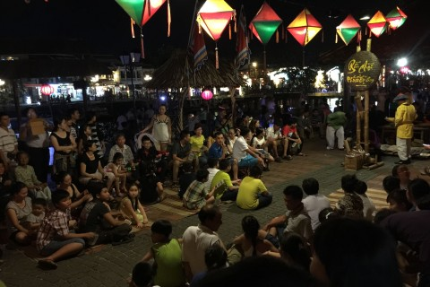 An evening performance gets underway. Photo taken in or around Self-guided tour of Hoi An's old town, Hoi An, Vietnam by Cindy Fan.