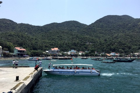 The speedboat option for getting to Cham Island is an attractive one.