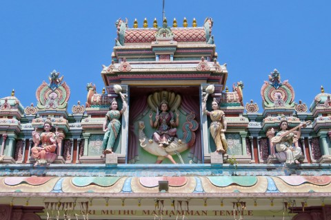 Sri Muthu Mariammam Temple—plenty of temples for a village of this size. Photo taken in or around Kampung Chetti, Melaka, Malaysia by Sally Arnold.