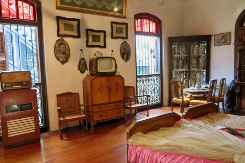 Back when box TVs were cool. Photo taken in or around Pinang Peranakan Mansion, Penang, Malaysia by Sally Arnold.