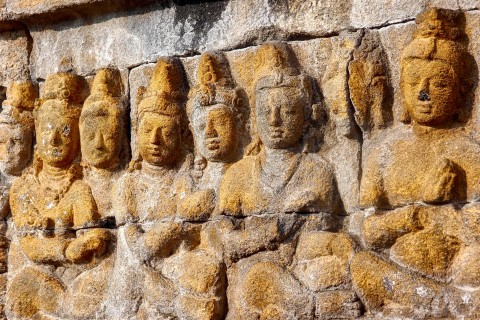 Keep your eyes peeled for the details. Photo taken in or around Borobudur, Yogyakarta, Indonesia by Sally Arnold.