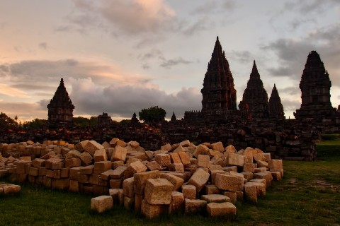 Quite the jigsaw. Photo taken in or around Prambanan , Yogyakarta, Indonesia by Sally Arnold.