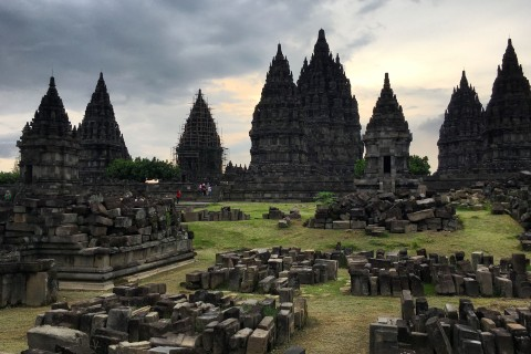 Guides to explain the complexities of ancient temples are always a good idea. Photo taken in or around Prambanan , Yogyakarta, Indonesia by Sally Arnold.