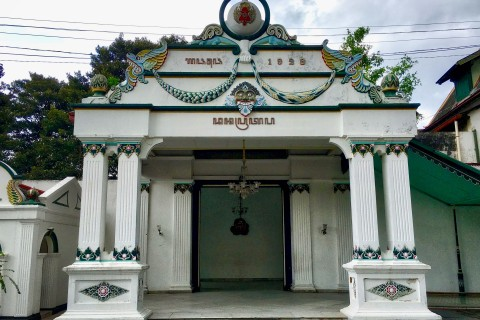 So much history within these walls. Photo taken in or around Kraton (Sultan's Palace), Yogyakarta, Indonesia by Sally Arnold.