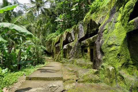 A lush overgrown setting. Photo taken in or around Gunung Kawi, Ubud, Indonesia by Sally Arnold.