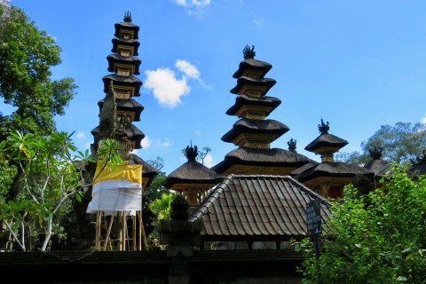 Temple scenery. Photo taken in or around Campuhan Ridge Walk, Ubud, Indonesia by Sally Arnold.