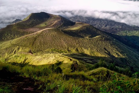 Just follow the trail. Photo taken in or around Climbing Gunung Batur, Gunung Batur, Indonesia by Sally Arnold.