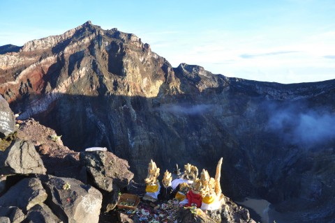A prayer for the mountain. Photo taken in or around How to prepare for climbing Gunung Agung, Sidemen, Indonesia by Stuart McDonald.