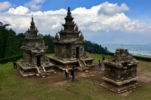 The views are often as impressive as the monuments. Photo taken in or around Candi Gedong Songo, Semarang, Indonesia by Sally Arnold.